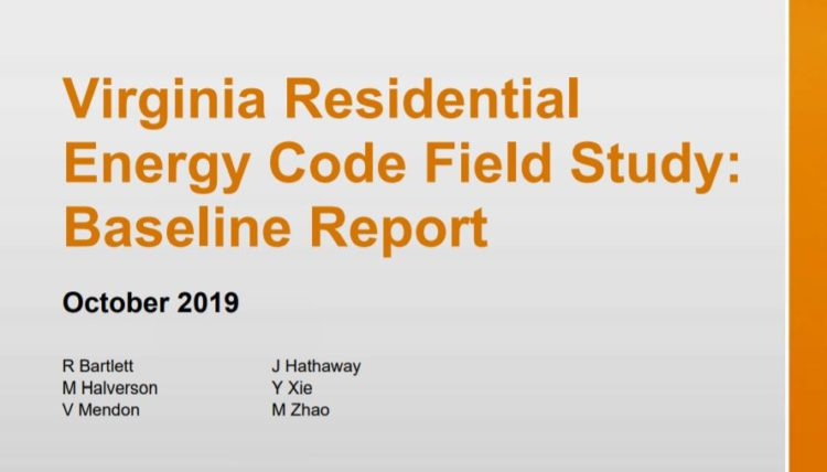 Virginia Residential Energy Code Field Study Report Released!